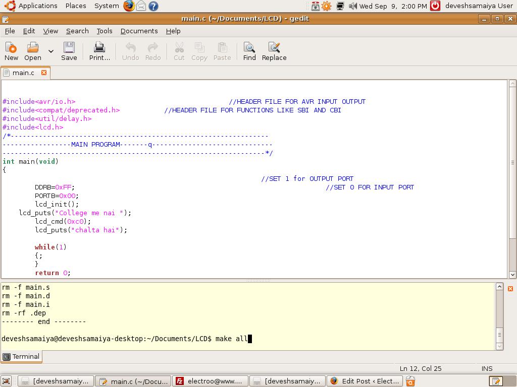 compilare il codice e trovare dei bugs